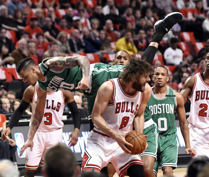 NBA: Playoffs-Boston Celtics at Chicago Bulls